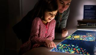 Child viewing San Diego Zoo Anniversary website