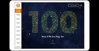 100 Years of the San Diego Zoo interactive timeline page