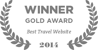 Winner Gold Award Best Travel Website 2014