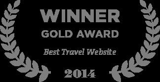 Winner Gold Award Best Travel Website 2014