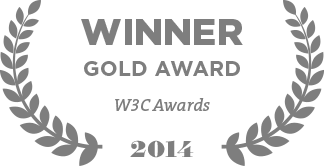 Winner Gold Award W3C Awards 2014