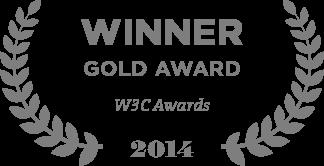 Winner Gold Award W3C Awards 2014