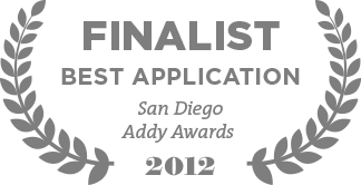 Finalist Best Application San Diego Addy Awards 2012
