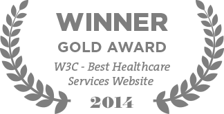 Winner Gold Award W3C - Best Healthcare Services Website 2014