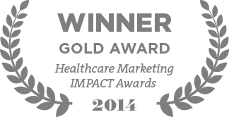 Winner Gold Award Healthcare Marketing IMPACT Awards 2014