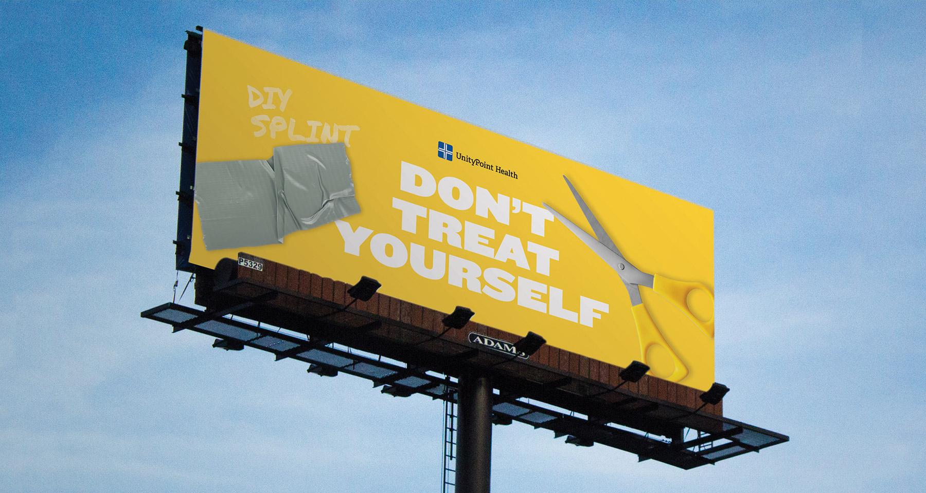 UnityPoint Health, Don't Treat Yourself Billboard