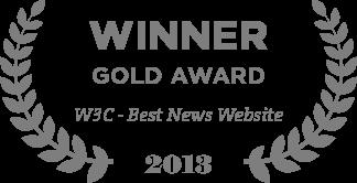 Winner Gold Award W3C - Best News Website 2013