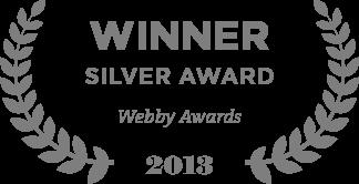 Winner Silver Award Webby Awards 2013